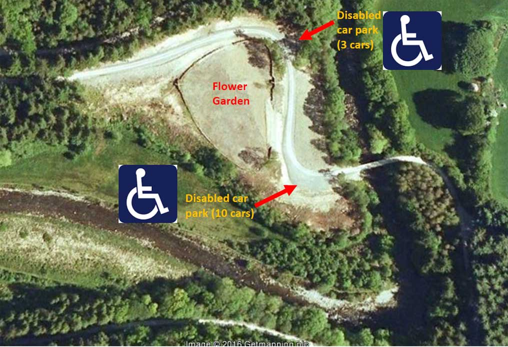 Disabled parking bays at the Hafod Estate
